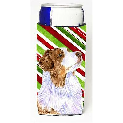 Australian Shepherd Candy Cane Holiday Christmas Michelob Ultra bottle sleeve...