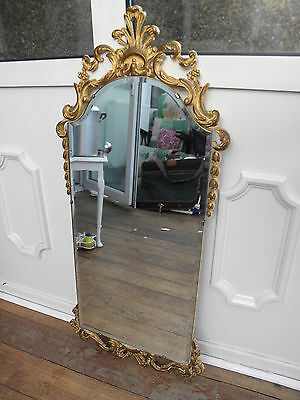 Vintage Atsonea Gilt Framed large Wall mirror bevelled edge arched VGC