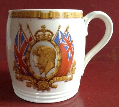 Commemorative mug for the Silver Jubilee of King George V & Queen Mary in 1935.