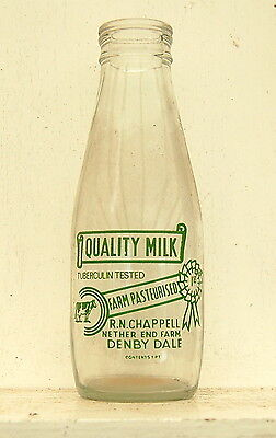 milk bottle : old Chappell of Denby Dale : dairy