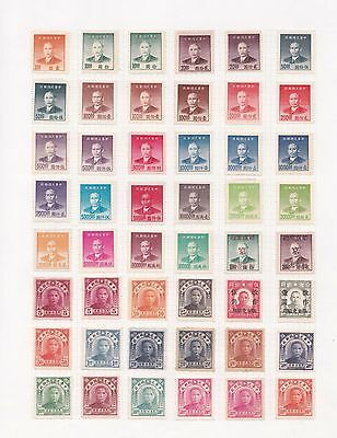 g China Selection of Used Chinese Stamps on Page