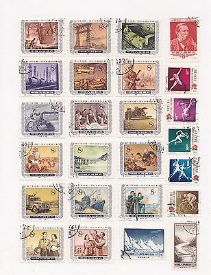 i China Selection of Used Chinese Stamps on Page