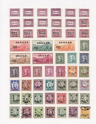 c China Selection of Used Chinese Stamps on Page