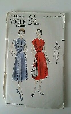 Vogue dress pattern from 1951
