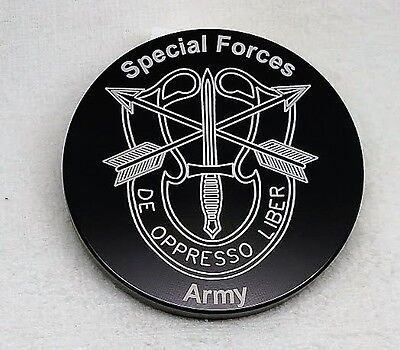 "U.S. Army, Special Forces, Billet Aluminum Trailer Hitch plug Cover, 4"" Round"