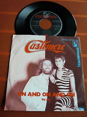 """Single 7"""" CASHMERE – ON AND ON AND ON – Pop 1980 - TOP Zustand"""
