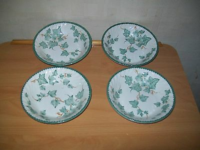4 x BHS Country Vine Ivy Leaves Leaf Pattern cereal/ fruit/soup bowls  17cms