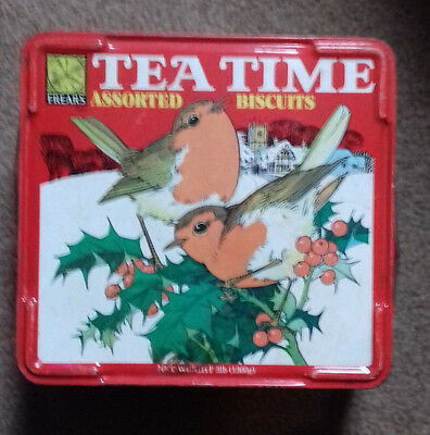 Vintage Frears Christmas Biscuit Tin - Tea Time Assortment