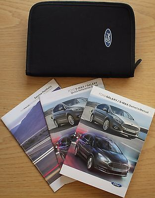 Ford Galaxy S-Max Handbook Owners Manual Wallet + Service Book 2015-2017 Pack