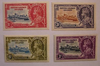 Solomon Islands: 1935 Silver Jubilee set. Fine mint.