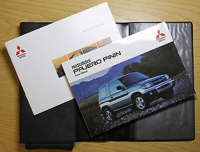 Mitsubishi Pajero Shogun Pinin Handbook Owners Manual Wallet 1998-2006 Pack 7014