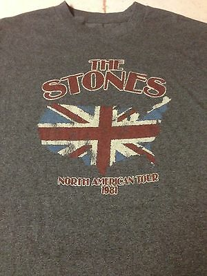 Rolling Stones 1981 Tour X Large t Shirt Classic Rock Mick Jagger Keith Richards