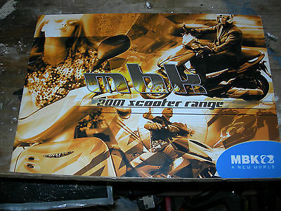 Motorcycle Brochure.M B K 2001 .GREAT ITEM !!!!!!!!!!!!!!!! 24 pages