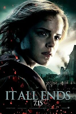 """Harry Potter movie poster - Deathly Hallows 11"""" x 17"""" - Emma Watson poster (a)"""