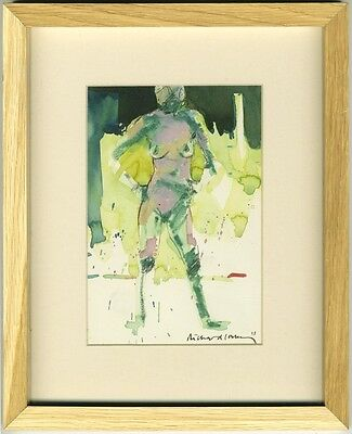 Richard J.S. Young - 2013 Mixed Media, Standing Nude in Green