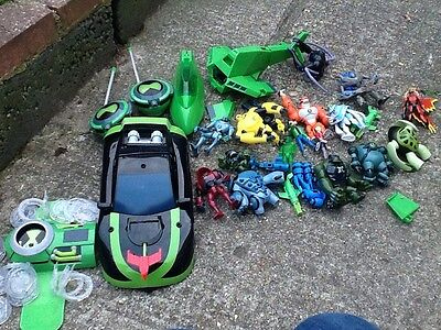 ben 10 toys including figures cars and omnitrex