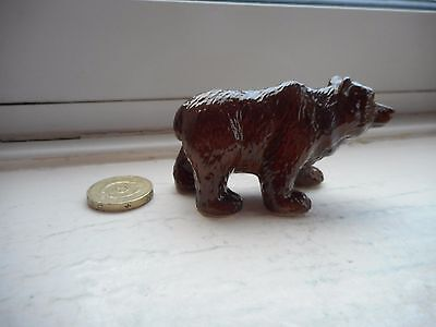 Bear - Beautiful Miniature Pottery/ceramic Brown Or Grizzly Bear