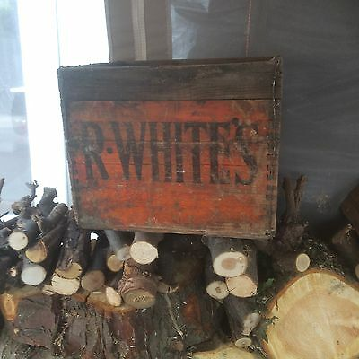 R White's Woodern Crate 1960 70s Nice Condition Vintage Collectable Ss4 Postcode