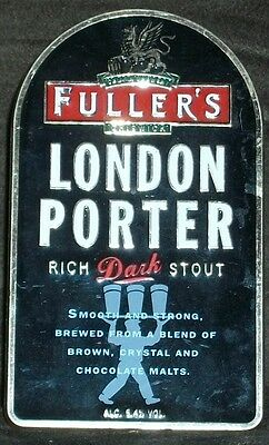 Fullers Brewery used pump clip as scan LONDON PORTER 5.4%