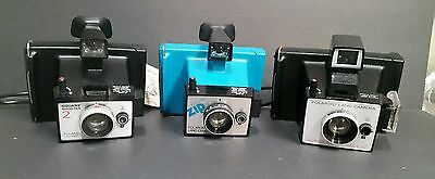 3 Piece Lot of Poloroid Land Cameras