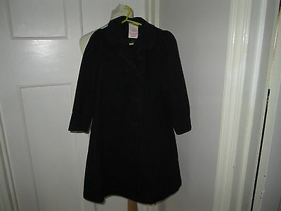 Girls Trendy Laura Ashley Coat Age 4 Yrs Full Length Navy - Wedding? Winter Vgc