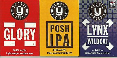 3 Yeovil Brewery used pump clips as scan.