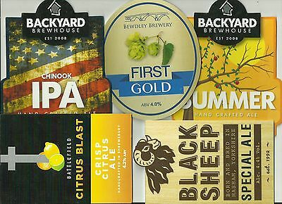 5 Various Brewery used pump clips as scan. (10)