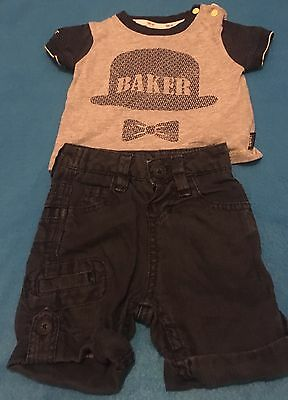 Ted Baker Baby Boys T Shirt + Shorts Aged 0 - 3 Months