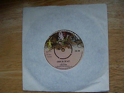LINDISFARNE Court In The Act / Don't Ask Me 1972 UK 7""