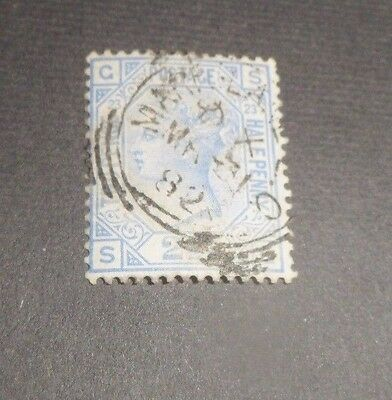 GB Queen Victoria SG 157 2 1/2d blue plate 23 good cancel nice stamp cat £35