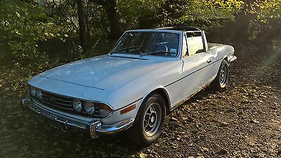 1973 TRIUMPH STAG WHITE 3.9 Injection 5 speed