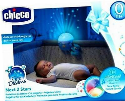 Chicco Blue Next2Stars Mobile Travel Cot Projector/Night Light for Next2me Crib