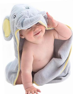 EXTRA SOFT Elephant Hooded 100% Cotton Baby Towel