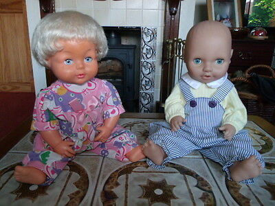 Vintage Palitoy Tiny Tears and Peterkin Baby Dolls