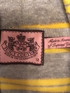 Juicy Couture Girls Hoodie Age 12 - VGC