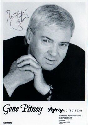 Gene Pitney - Autographed card - 4 x 6 inches