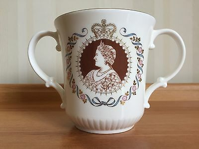 Royal Doulton Loving Cup Commemorating Queen Mother Elizabeth's 80th Birthday