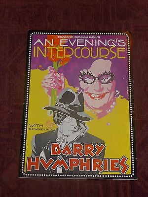 Barry Humphries - an Evening's Intercourse with The Widely Liked . . - programme
