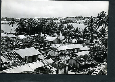 Ivory Coast real photo card of Abidjan (Cote d'Ivorie)