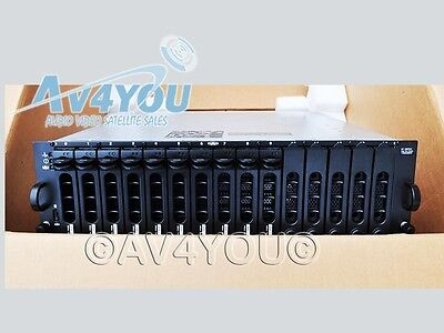 NEW Dell PowerVault MD3000 Storage Array 2x controllers 2x PS Cables, Bezel #2