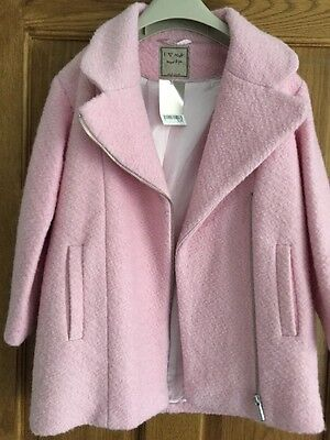Brand New Next Pink Coat Age 7-8