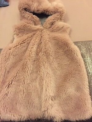 NEXT Faux Fur Gilet With Hood New Without Tags Age 11