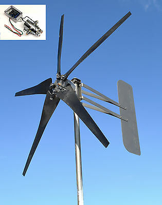 KT5 Wind Turbine 5 Blade LOW WIND 1000W 48 volt AC 3-wire / 3 phase 3.75kW W/REG