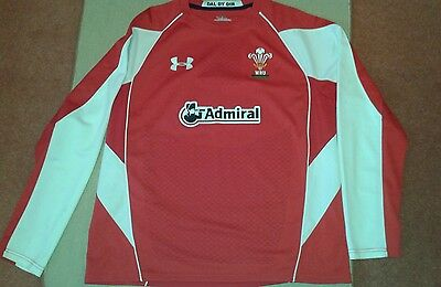 Wales Underarmour Admiral XXL Long Sleeved Rugby Shirt