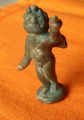A314... Roman style bronze figurine of Cupid