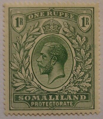 Somaliland Protectorate: 1912-19 SG69 1r green. Fine mint.