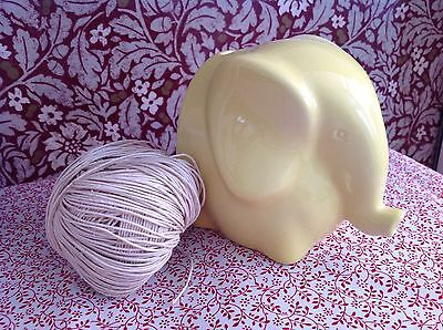 Fab Retro Yellow Elephant String Holder Kitchen pottery