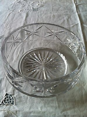 TUDOR ENGLAND lead crystal bowl no cracks genuine wear VGC