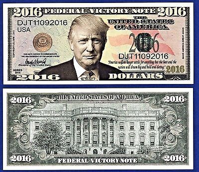 (25) Donald Trump 2016 Federal Victory Bills Presidential- Political Money O1