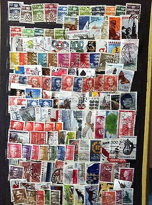 Large Lot Denmark Stamps All Different Used